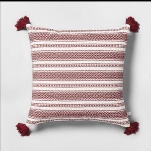 HEARTH & HAND NWT throw pillow with tassels